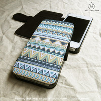 Tribal Geometric Pattern iPhone Wallet