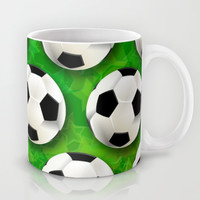 Soccer Ball Football Pattern Mug by BluedarkArt
