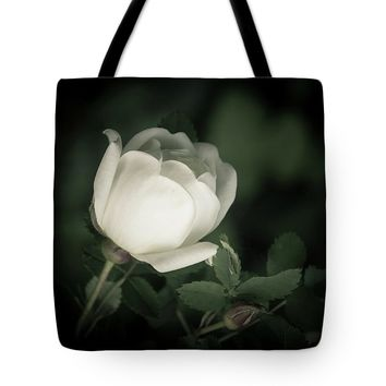 White Flower Of A Dogrose Tote Bag