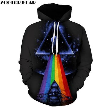 Hot Triangle Printed Men Women Hoodies Novelty 3D Printed Sweatshirt Hooded Tracksuit Brand Quality Pullover 2017