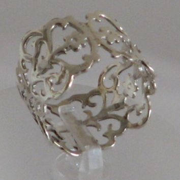 Lace ring 925 sterling Silver by nuritdesign on Etsy