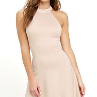 Devoted to You Beige Dress