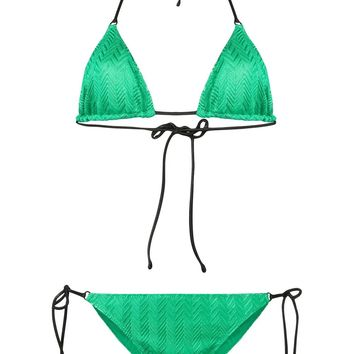 Mint Green Pattern Bikini by Missoni