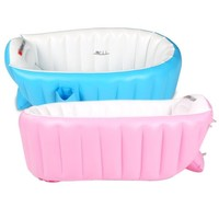 Summer High Quality Portable Baby Kid Toddler Inflatable Bathtub born Thick Green Bath Tub   98*65*28 CM JF0004