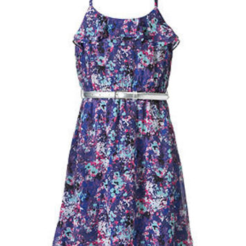 Epic Threads Girls Dress, Girls Belted Chiffon Dress - Kids Girls 7-16 - Macy's