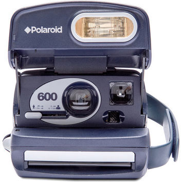 TESTED Polaroid Midnight Blue 600 Type Camera | Working Instant Film Photography Vintage Retro