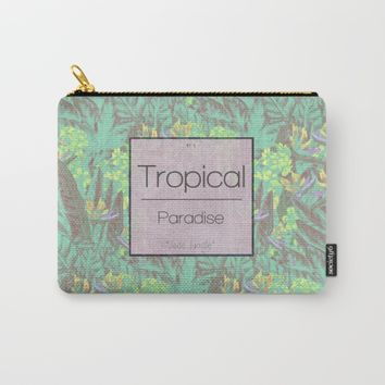 Tropical Paradise: Jade Jungle Carry-All Pouch by Ben Geiger