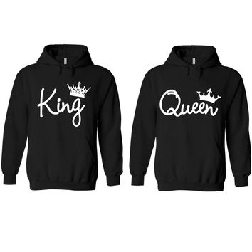 King and Queen Write Black Hoodie