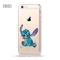 Lilo and Stitch Clear Soft Disney Phone Case For iPhone 7 7Plus 6 6s Plus 5 5s SE C
