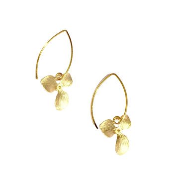 Vermeil Marquis with Orchid Earrings