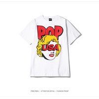 Aliexpress.com : Buy Hot Men Women Fashion T shirt Blond Girl 3D Pattern Print Mens Short Sleeve Tshirt Pop Streetwear Clothes Black Casual Tee Top from Reliable t-shirt original suppliers on HEY FISH Store