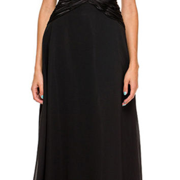 V Back/Neckline Silver Dress Black Cap Sleeves Lace Overlay Gown