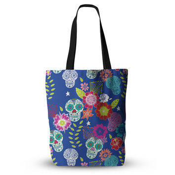 "Anneline Sophia ""Day of the Dead"" Blue Aztec Everything Tote Bag"