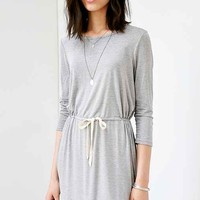 BDG Knit Tie-Waist Long-Sleeve Dress