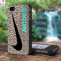 Nike just do it leopard wall iphone 5,iphone 4, samsung galaxy s2 I9100,s3 I9300,s4 I9500