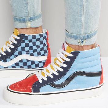 Vans Sk8-Hi 38 Canvas Trainers In Blue VA2XS1JSN