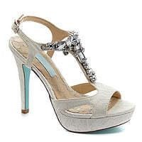 Blue by Betsey Johnson Luxe Jeweled Sandals