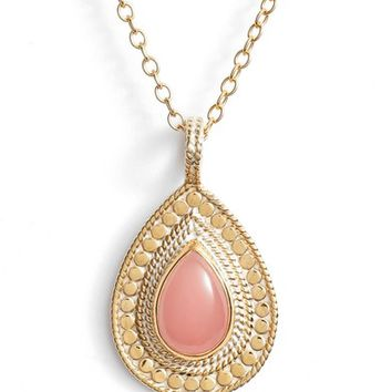 Anna Beck Guava Quartz & Moonstone Pendant Necklace | Nordstrom