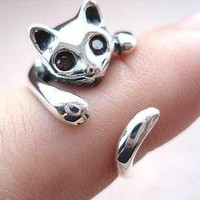 925 Sterling Silver Cat Ring  by Julyjoy