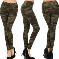 Soldier Girl Camouflage Print Leggings