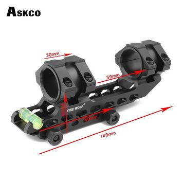 Tactical Scope Mount 25.4mm 30mm Dual Ring Cantilever Heavy Duty Riflescope Mount With Bubble Level 20mm Rail Base