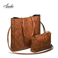 AMELIEGALANTI 2016 new casual women shoulder bags famous brand fashion designer handbag Solid Composite Bag women totes