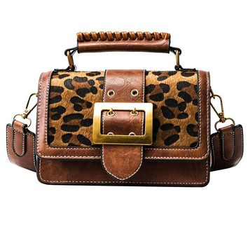 Women Luxury Handbags Women Bags Designer Leather Handbags and Purse Crossbody Vintage Leopard Small Women Messenger Bags Purse