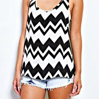 ZIGZAG RACKERBACK | BLACK & WHITE