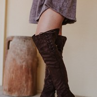 Walk The Line Knee High Boot - Brown