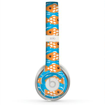 The Seamless Vector Gold Fish Skin for the Beats by Dre Solo 2 Headphones