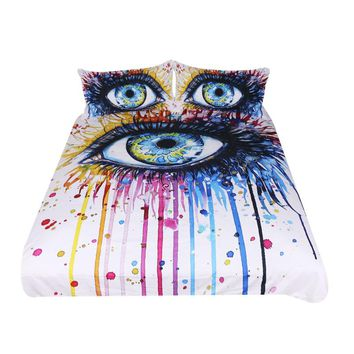 Rainbow Eye Bedding Set (Super Soft Duvet Cover with Pillowcases)