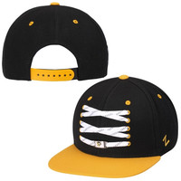 Pittsburgh Penguins Zephyr Skate Lacer Adjustable Snapback Hat – Black