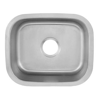DAX-1815 / DAX SINGLE BOWL UNDERMOUNT KITCHEN SINK, 18 GAUGE STAINLESS STEEL, BRUSHED FINISH