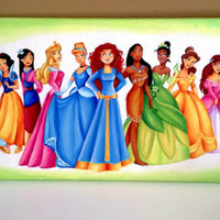 official/designer Princesses canvas