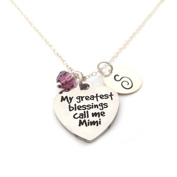 My Greatest Blessing Call Me Mimi Necklace