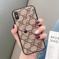 GUCCI Fashion Newest Simple iPhone Phone Cover Case For iphone 6 6s 6plus 6s-plus 7 7plus iPhone X XR XS XS MAX