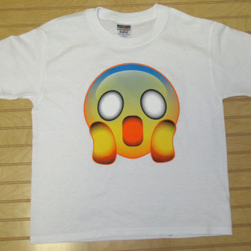 Kids Printed TShirt Shocked Emoji