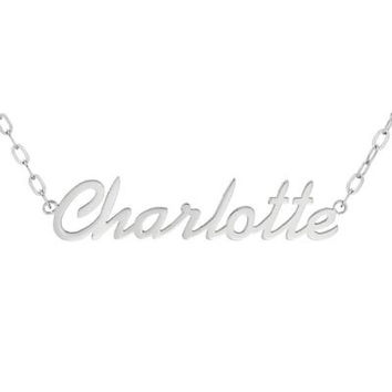 Name Necklace in Stainless Steel (12 Characters) - 17.25