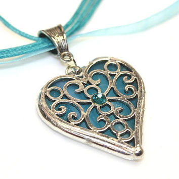 Round Stained Glass and  Filigree Heart by colorshoppestudio