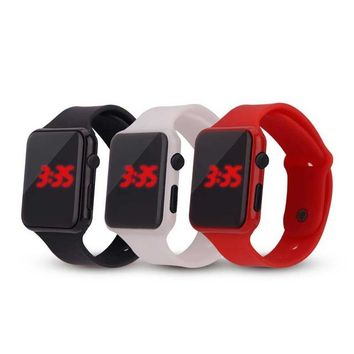 Children fashion watch Red led Boy girl electricity supplier electronic Student watches