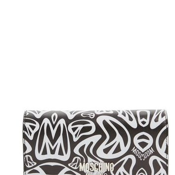 Moschino 'Peace' Printed Leather Wallet on a Chain | Nordstrom