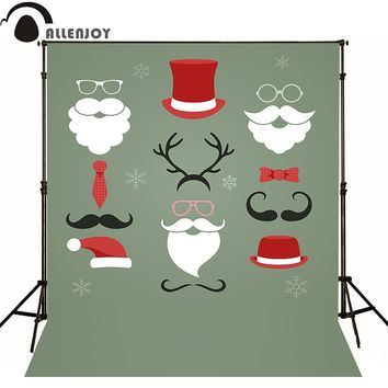 Allen joy christmas photography backdrops hipster santa claus elements horizontal newborn baby shower photocall home party