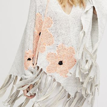 Dream of Daisies Poncho - White by Free People