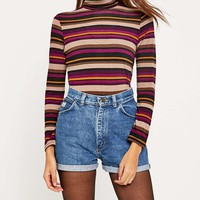 Urban Renewal Vintage Customised High Waisted 70s Turn Up Short - Urban Outfitters