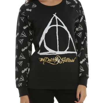 Harry Potter The Deathly Hallows Girls Pullover Top