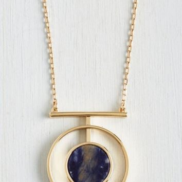Blue Crystal Earth Planet Stylish Fashion Necklace Jewelry