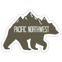 'PNW Mountain Bear' Sticker by lawjfree