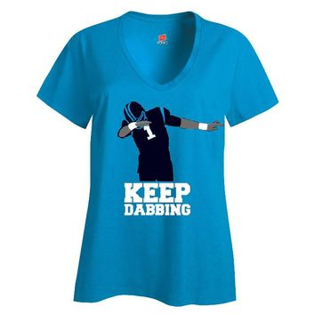 Keep Dabbing Panthers Ladies V-neck T-shirt Sports Clothing