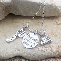 Necklace - Jewelry - Disney - Disney Jewelry - Mary Poppins - Practically Perfect in Every Way - Hand Stamped - Stamped Jewelry - Gift
