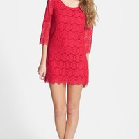 Junior Women's Leola Couture Lace Shift Dress,